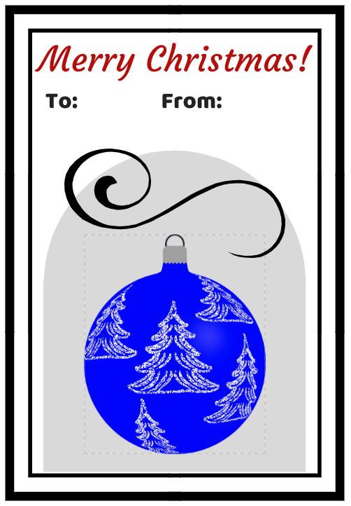 Two Collections of Free Printable Gift Tags for Christmas Christmas Baubles #FreePrintables #ChristmasPrintables #GiftTags #Christmas #DIY #FrugalChristmas #BudgetFriendly #Printables
