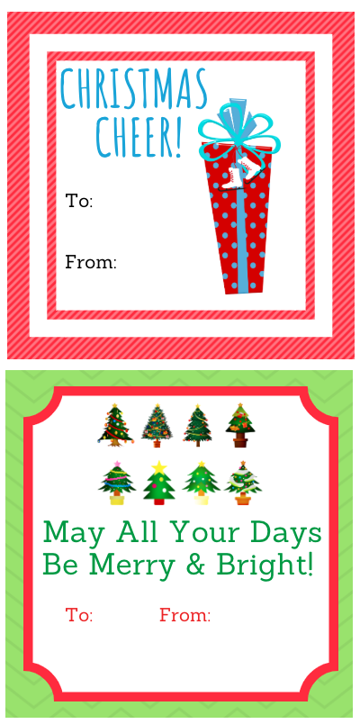 graphic regarding Printable Christmas Gifts called 5 Collections of Cost-free Printable Xmas Present Tags