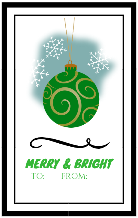 Two Collections of Free Printable Gift Tags for Christmas