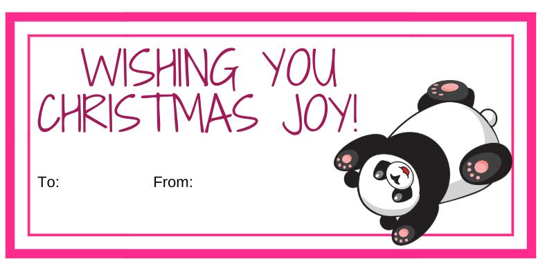 5 Collections of Free Printable Christmas Gift Tags Pink Christmas Greetings #FreePrintables #ChristmasPrintables #GiftTags #Christmas #DIY #FrugalChristmas #Printables