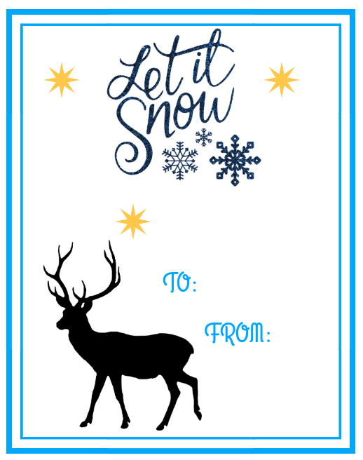 5 Collections of Free Printable Christmas Gift Tags Snow And More Snow Collection #FreePrintables #ChristmasPrintables #GiftTags #Christmas #DIY #FrugalChristmas #Printables