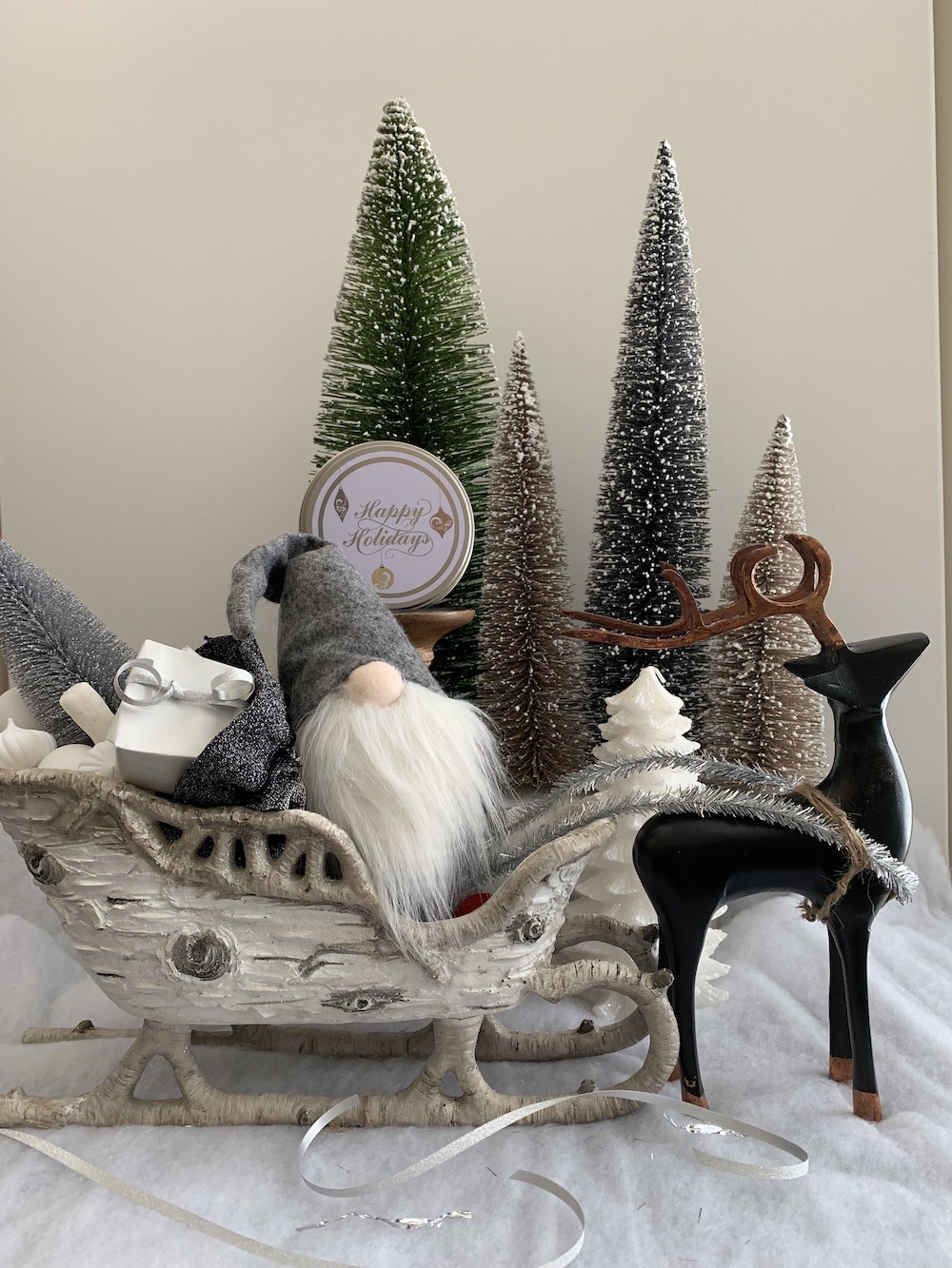 Christmas Home for the Holidays Tomte At Night #Winter #Affordable #BudgetFriendly #Christmas #DIY #ChristmasDecor #Decor