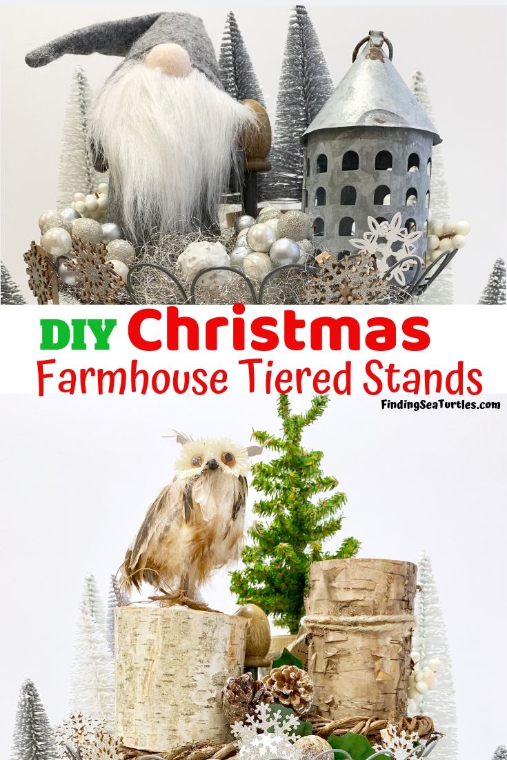 How to Style Your Tiered Stand for Christmas DIY Christmas Farmhouse Tiered Stands #Farmhouse #Affordable #BudgetFriendly #Christmas #DIY #ChristmasDecor #FarmhouseDecor