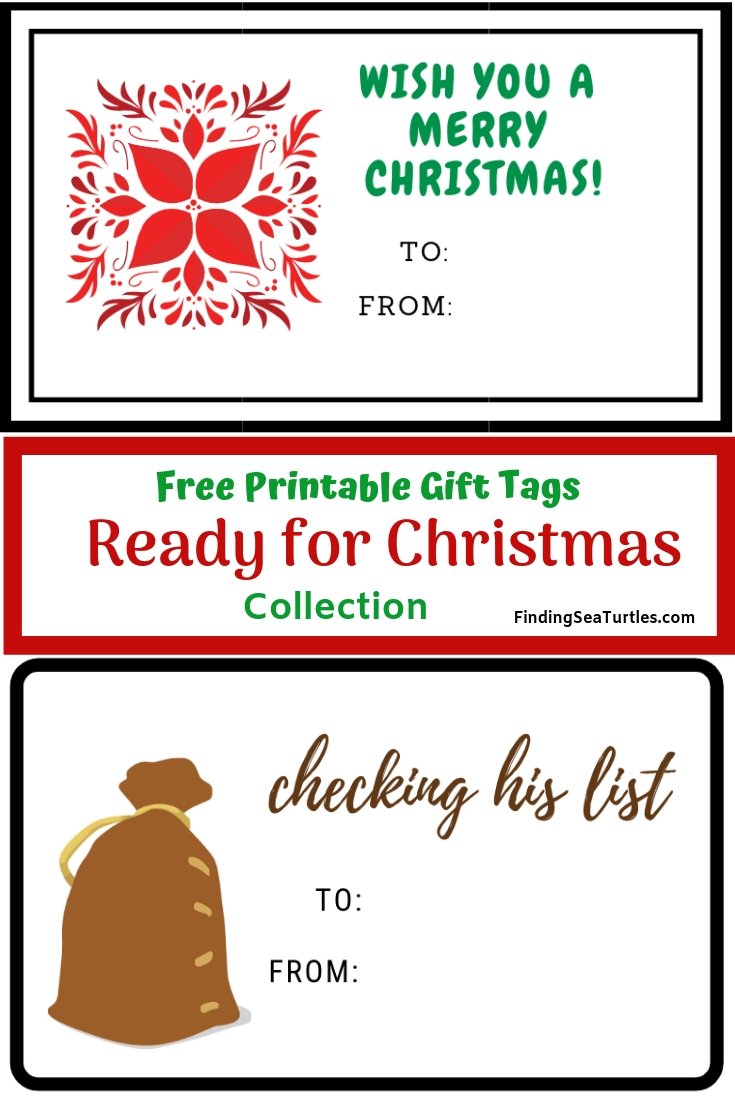 image regarding Free Printable Gift Tags Christmas named 2 Collections of No cost Printable Reward Tags for Xmas