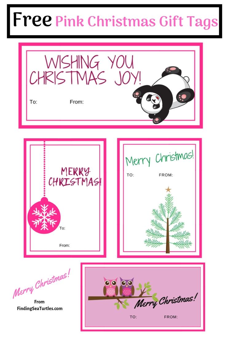 5 Collections of Free Printable Christmas Gift Tags Pink Christmas Greetings Pin #Christmas #ChristmasGiftTags #Free #Printables #GiftTags