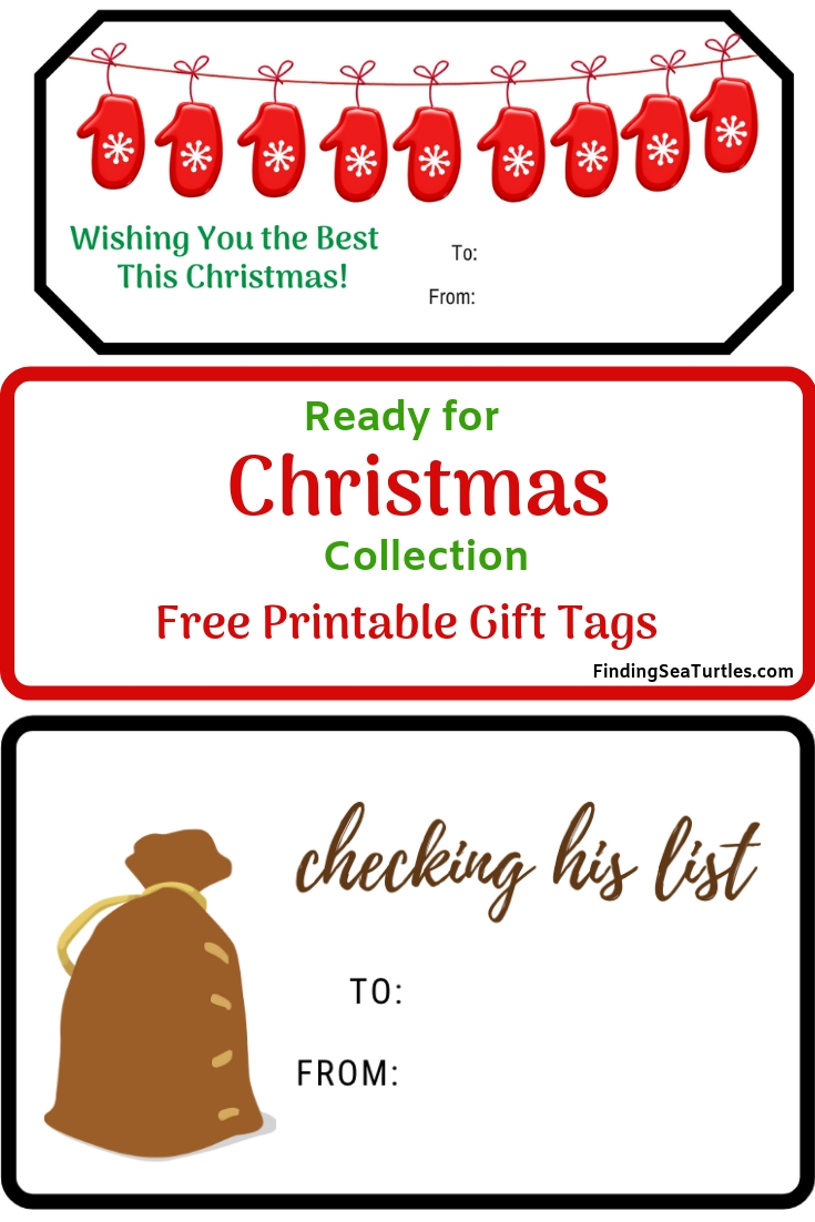 Two Collections of Free Printable Gift Tags for Christmas Ready For Christmas Collection Gift Tags #FreePrintables #ChristmasPrintables #GiftTags #Christmas #DIY #FrugalChristmas #BudgetFriendly #Printables