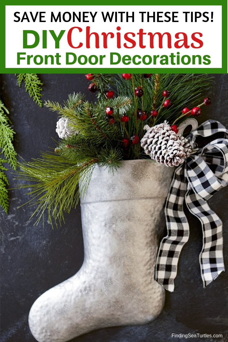 Modern Farmhouse Style DIY Christmas Door Decorations Save Money With These Tips DIY Christmas Door Decorations #Farmhouse #Affordable #BudgetFriendly #Christmas #DIY #ChristmasDecor #FarmhouseDecor