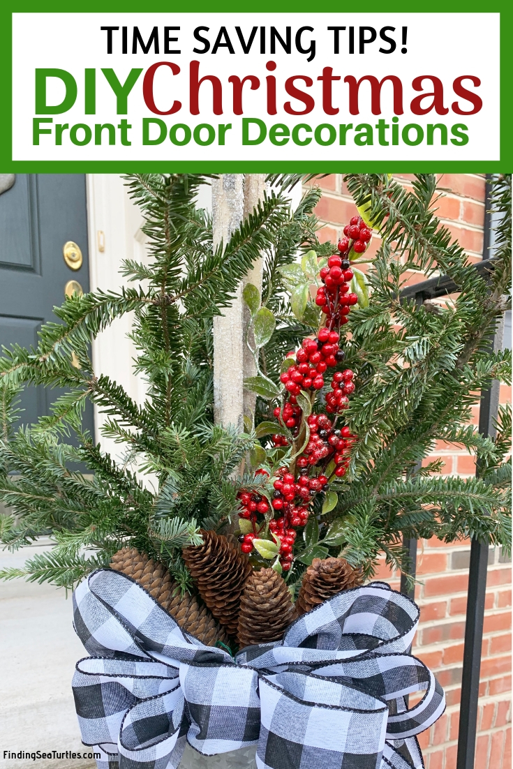 Modern Farmhouse Style DIY Christmas Door Decorations Save Time With These Tips DIY Christmas Door Decorations #Farmhouse #Affordable #BudgetFriendly #Christmas #DIY #ChristmasDecor #FarmhouseDecor