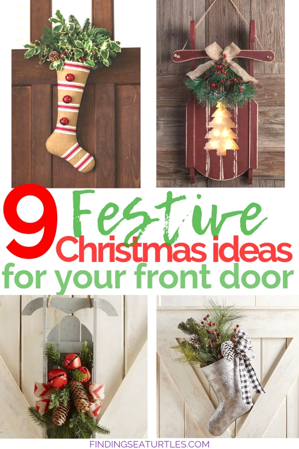 9 Christmas Front Door Decorations to Greet Your Holiday Guests 9 Christmas Front Door Decorations That'll Make Guests Feel Welcome! #Christmas #ChristmasPorch #ChristmasFrontDoor #ChristmasDecor""