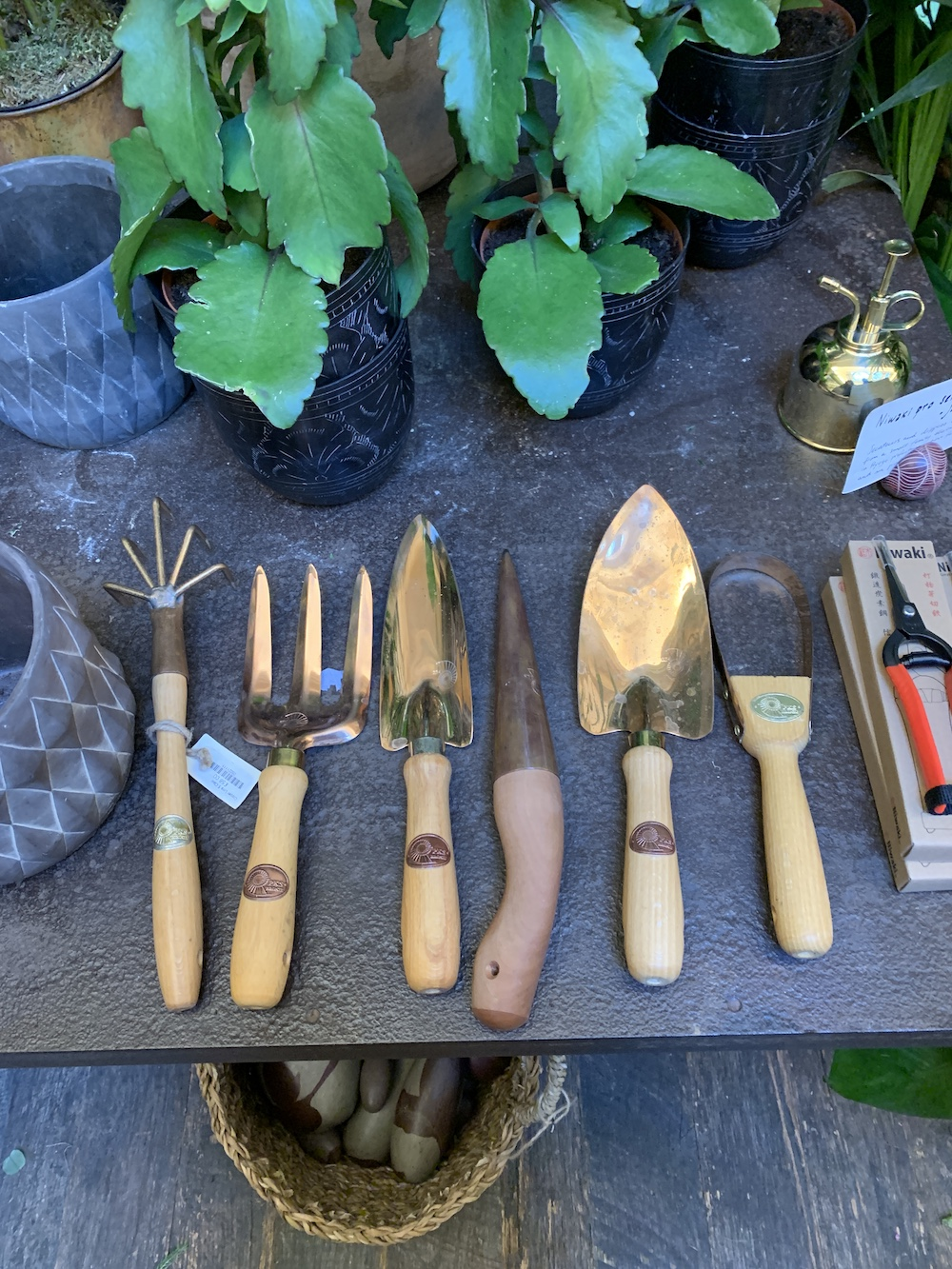7 Things to do at Petersham Nurseries Petersham Garden Hand Tools and House Plants #PetershamNurseries #Garden #GardenTools #GardenSupplies #Gardening #HomeDecor #GardenDecor #London #CoventGarden
