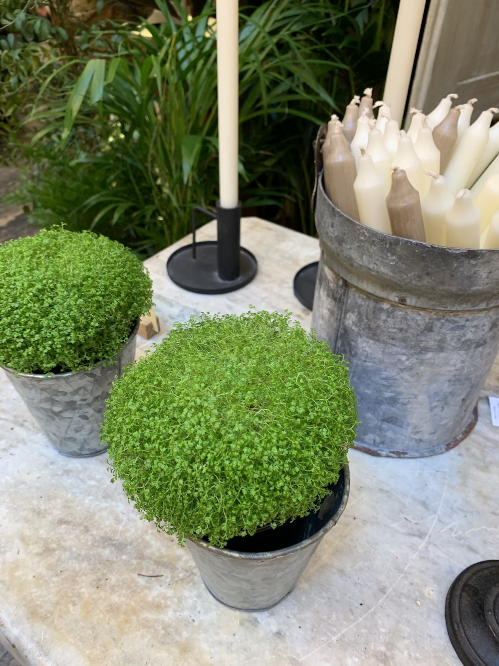 7 Things to do at Petersham Nurseries Petersham Greenery Candles In Galvanized Bucket #PetershamNurseries #Garden #GardenTools #GardenSupplies #Gardening #HomeDecor #GardenDecor #London #CoventGarden