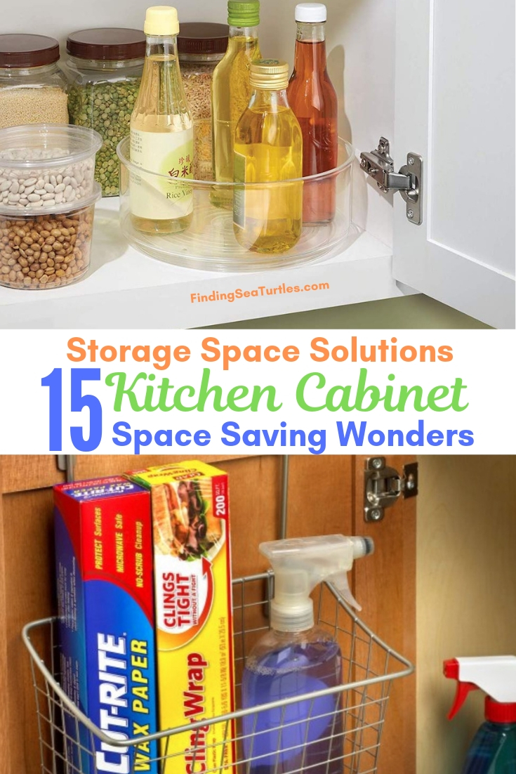 Storage Space Solutions 15 Kitchen Cabinet Space Saving Wonders #Organize #Organization #OrganizedKitchen #Kitchen #KitchenCabinets #KitchenStorage #CabinetStorage #Storage