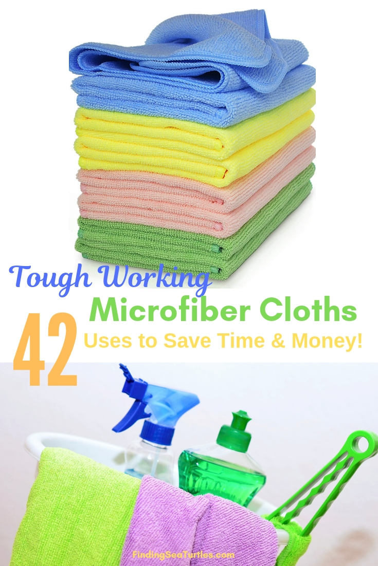Tough Working Microfiber Cloths 42 Uses To Save Time & Money #Microfiber #Cleaning #BudgetFriendly #Affordable #HouseCleaning #SaveMoney #SaveTime