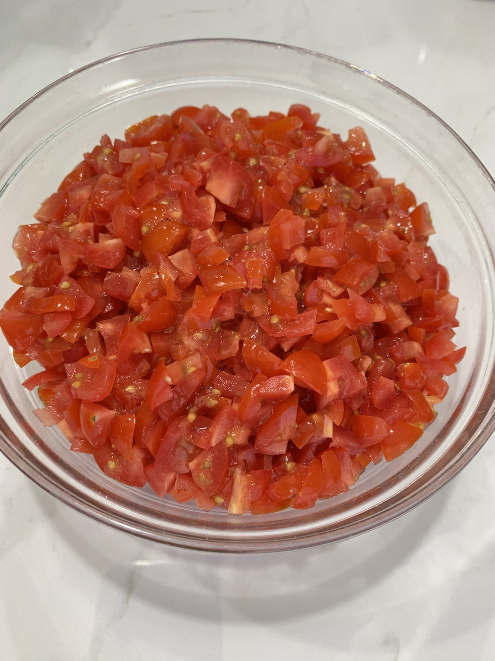 Grape Tomato Bruschetta, a Quick and Easy Appetizer Diced Grape Tomatoes #Bruschetta #GrapeTomatoes #TomatoBruschetta #QuickandEasy #BudgetFriendly #Affordable #Healthy #Appetizer #AffordableFood #SaveTime #SaveMoney