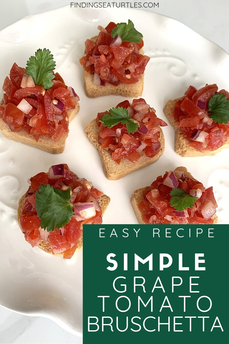 Easy Recipe Simple Grape Tomato Bruschetta #Bruschetta #GrapeTomatoes #TomatoBruschetta #QuickandEasy #BudgetFriendly #Affordable #Healthy #Appetizer #AffordableFood #SaveTime #SaveMoney