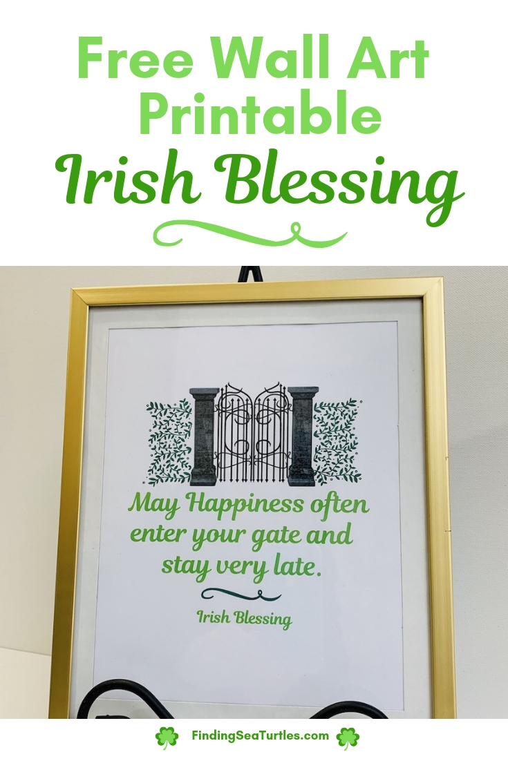 image about Printable Irish Blessing identify Irish Blessing No cost Printable - Acquiring Sea Turtles
