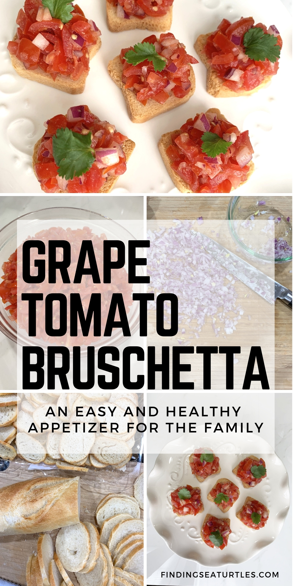Grape Tomato Bruschetta An Easy And Healthy Appetizer For Family #Bruschetta #GrapeTomatoes #TomatoBruschetta #QuickandEasy #BudgetFriendly #Affordable #Healthy #Appetizer #AffordableFood #SaveTime #SaveMoney