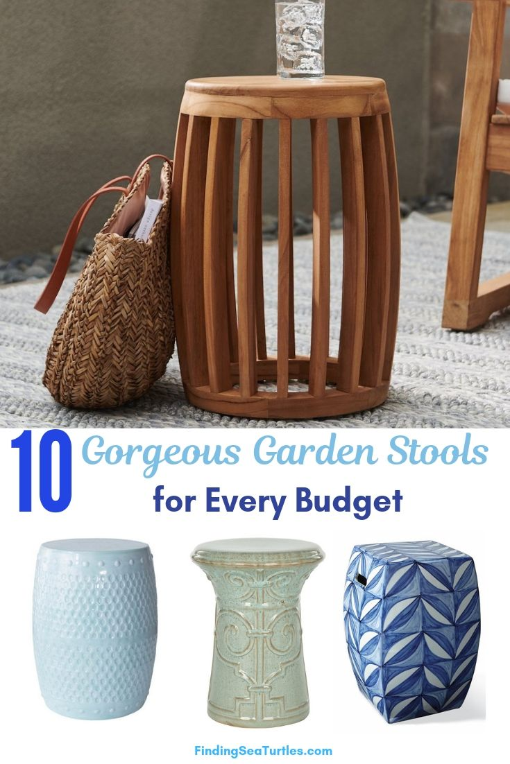 10 Gorgeous Garden Stools For Every Budget #SmallSpaces #SmallSpaceLiving #Garden #Patio #Porch #Deck #GardenStool #GardenSeating #OutdoorStool #PatioSeating #PorchSeating