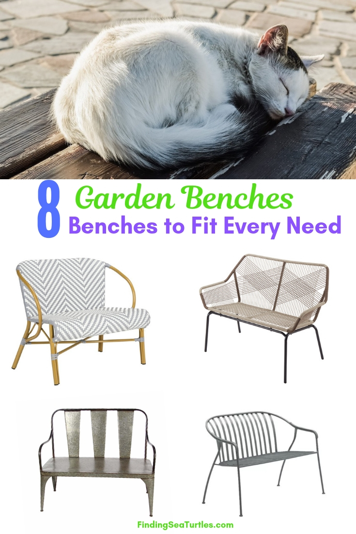 8 Garden Benches Benches To Fit Every Need #Garden #Gardening #Landscape #Landscaping #GardenBench #Benches #OutdoorBench #Patio #Deck #Porch