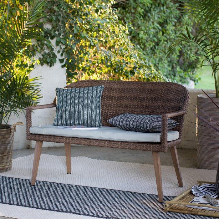 8 Garden Benches for a Restful Break Coral Coast Pruitt Resin Wicker #Garden #Gardening #Landscape #Landscaping #GardenBench #Benches #OutdoorBench #Patio #Deck #Porch