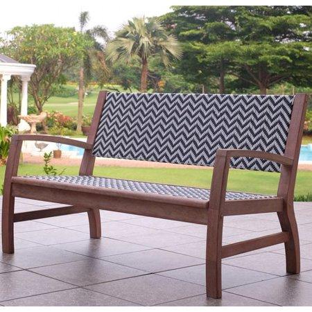 8 Garden Benches for a Restful Break Danya Wooden Wicker Garden Bench #Garden #Gardening #Landscape #Landscaping #GardenBench #Benches #OutdoorBench #Patio #Deck #Porch