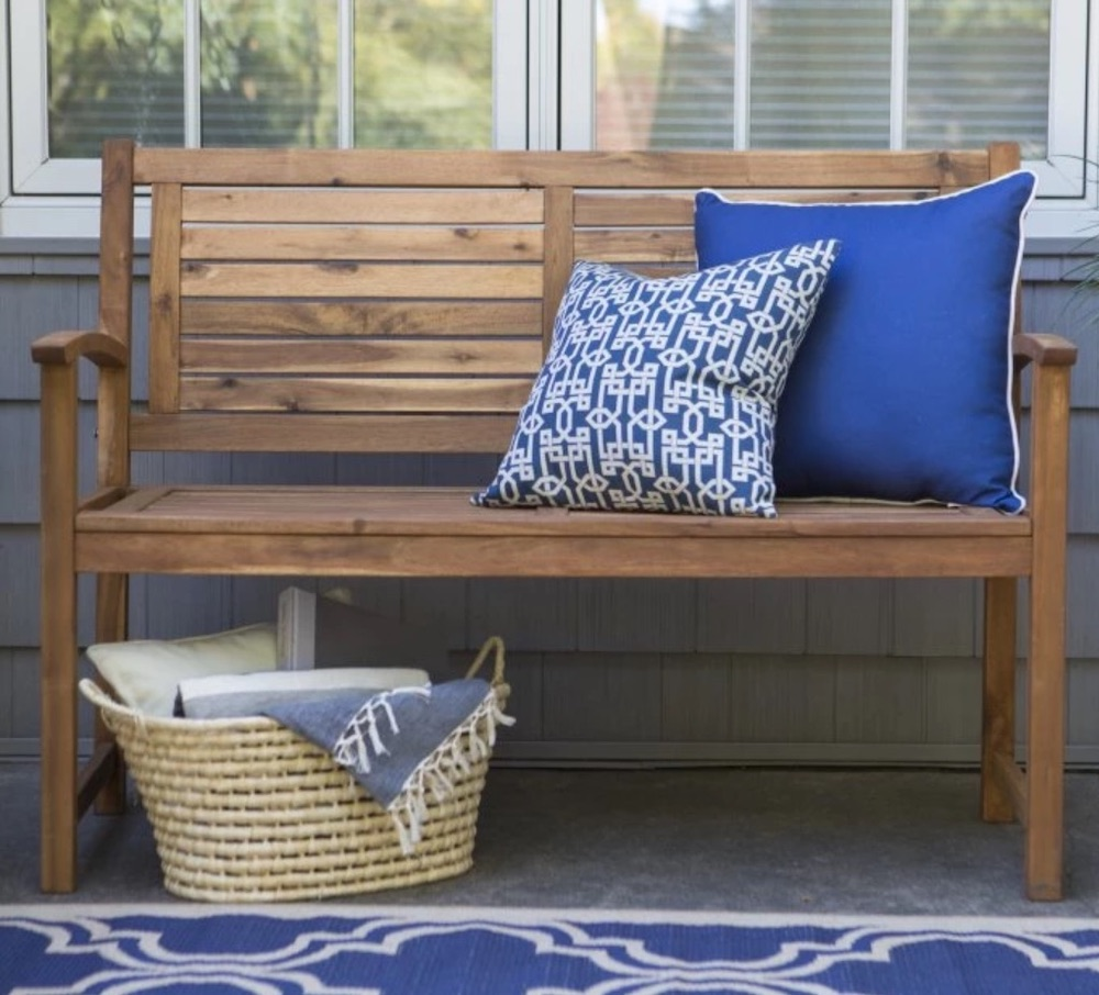 8 Garden Benches for a Restful Break Norwood Garden Bench #Garden #Gardening #Landscape #Landscaping #GardenBench #Benches #OutdoorBench #Patio #Deck #Porch