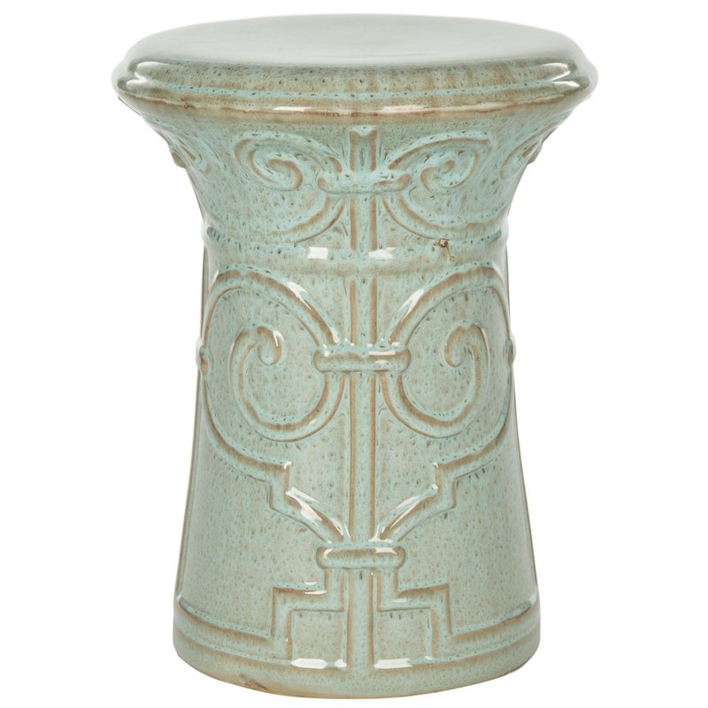 10 Versatile Garden Stools for Outdoor Living Spaces Imperial Scroll Garden Stool #SmallSpaces #SmallSpaceLiving #Garden #Patio #Porch #Deck #GardenStool #GardenSeating #OutdoorStool #PatioSeating #PorchSeating