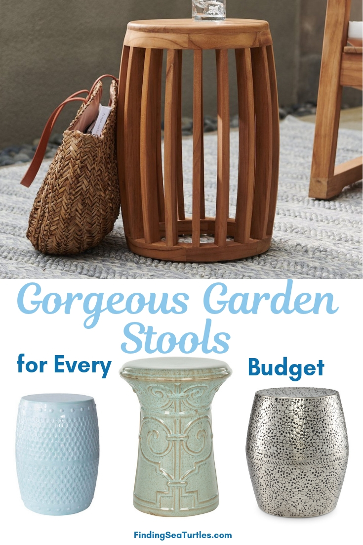Gorgeous Garden Stools For Every Budget #SmallSpaces #SmallSpaceLiving #Garden #Patio #Porch #Deck #GardenStool #GardenSeating #OutdoorStool #PatioSeating #PorchSeating