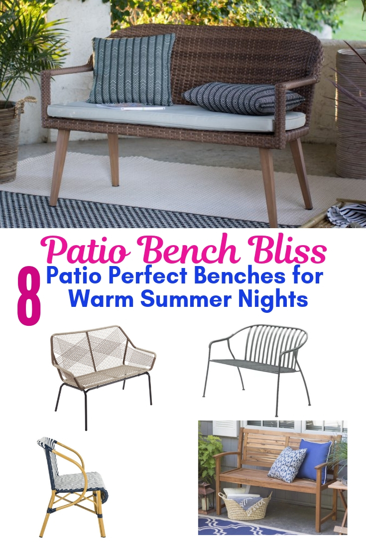 Patio Bench Bliss 8 Patio Perfect Benches For Warm Summer Nights #Garden #Gardening #Landscape #Landscaping #GardenBench #Benches #OutdoorBench #Patio #Deck #Porch