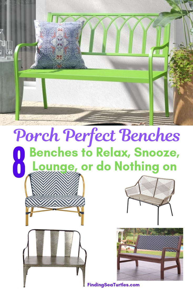 Porch Perfect Benches 8 Benches To Relax Snooze Lounge Or Do Nothing #Garden #Gardening #Landscape #Landscaping #GardenBench #Benches #OutdoorBench #Patio #Deck #Porch