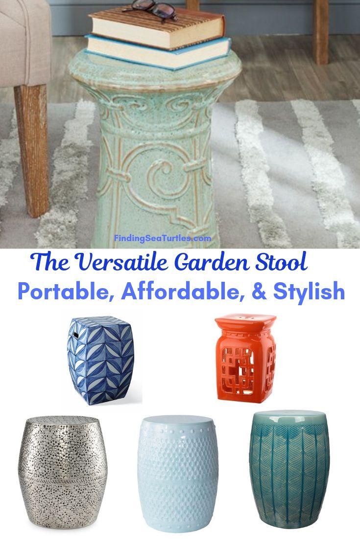 The Versatile Garden Stool Portable Affordable & Stylish #SmallSpaces #SmallSpaceLiving #Garden #Patio #Porch #Deck #GardenStool #GardenSeating #OutdoorStool #PatioSeating #PorchSeating