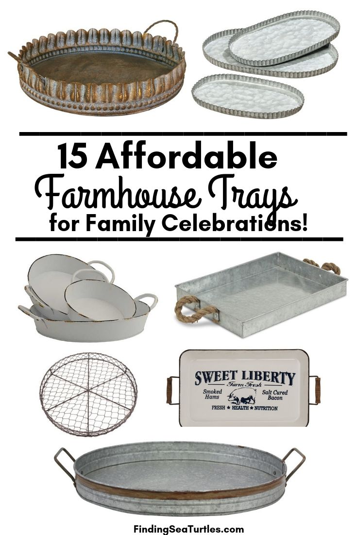 15 Affordable Farmhouse Trays For Family Celebrations! #Farmhouse #FarmhouseDecor #FarmhouseTrays #RusticDecor #Patio #OutdoorSpaces #OutdoorLiving #IndoorLiving #Entertaining