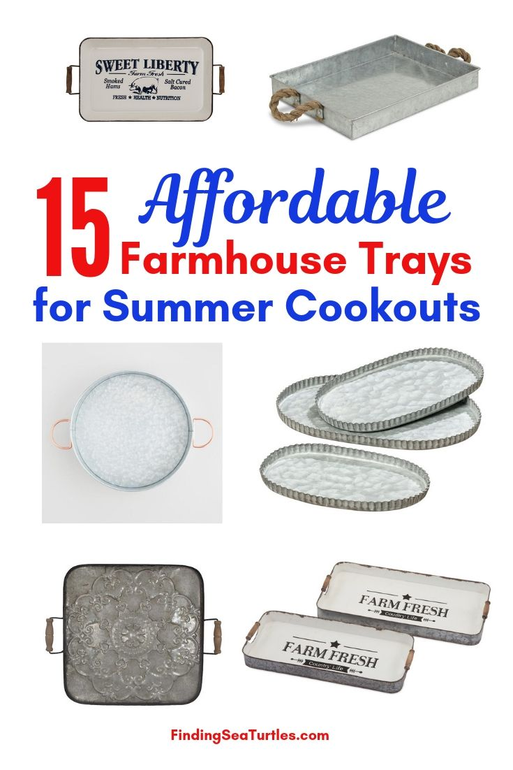 15 Affordable Farmhouse Trays For Summer Cookouts #Farmhouse #FarmhouseDecor #FarmhouseTrays #RusticDecor #Patio #OutdoorSpaces #OutdoorLiving #IndoorLiving #Entertaining