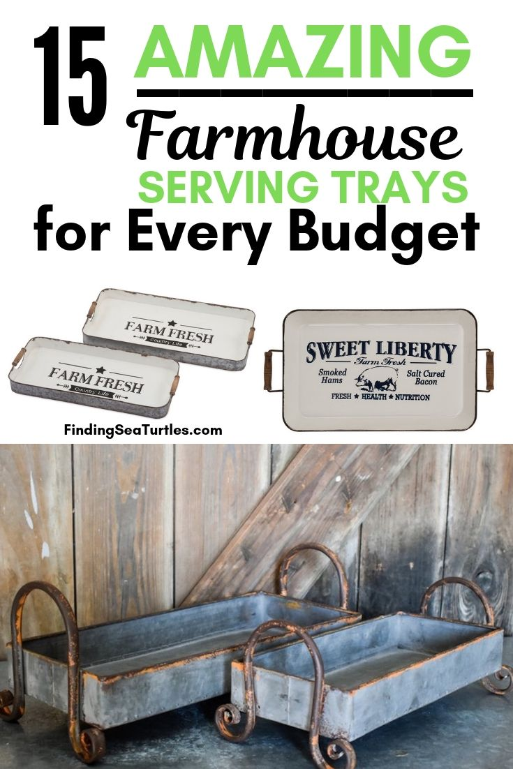 15 Amazing Farmhouse Serving Trays For Every Budget #Farmhouse #FarmhouseDecor #FarmhouseTrays #RusticDecor #Patio #OutdoorSpaces #OutdoorLiving #IndoorLiving #Entertaining