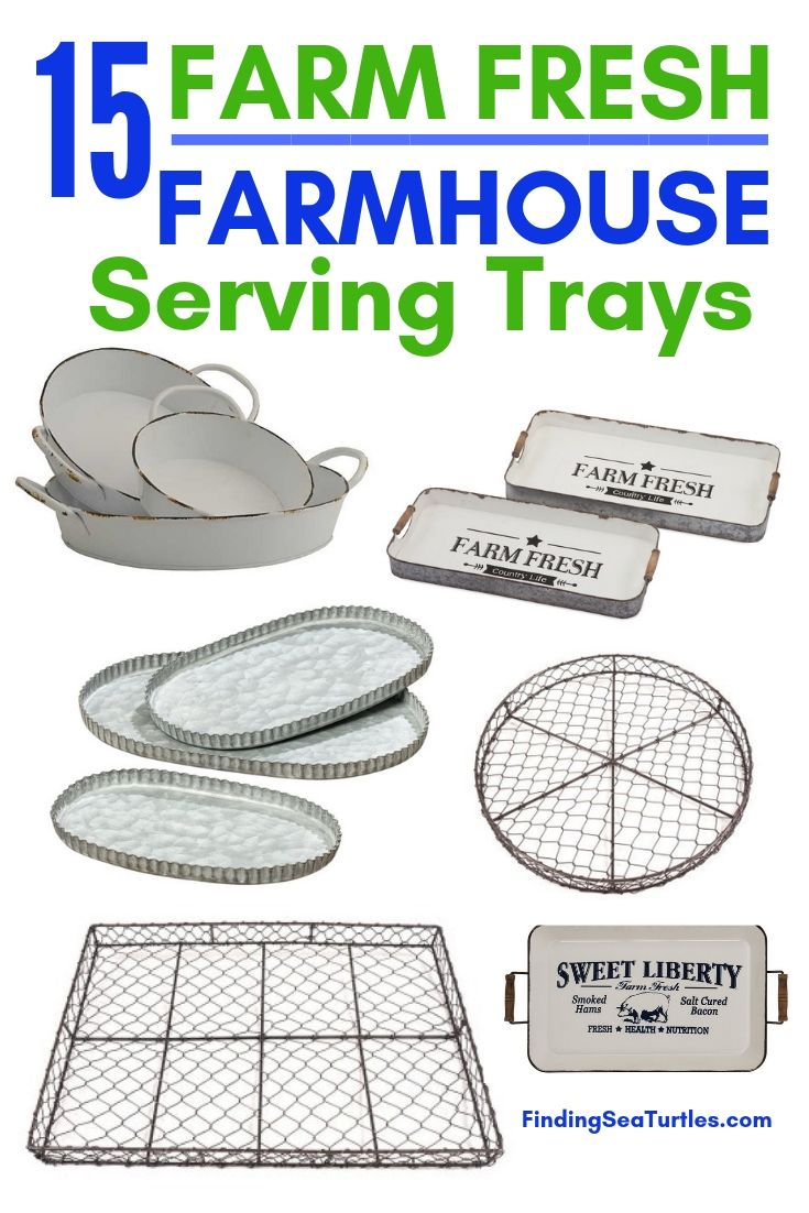 15 Farm Fresh Farmhouse Serving Trays #Farmhouse #FarmhouseDecor #FarmhouseTrays #RusticDecor #Patio #OutdoorSpaces #OutdoorLiving #IndoorLiving #Entertaining