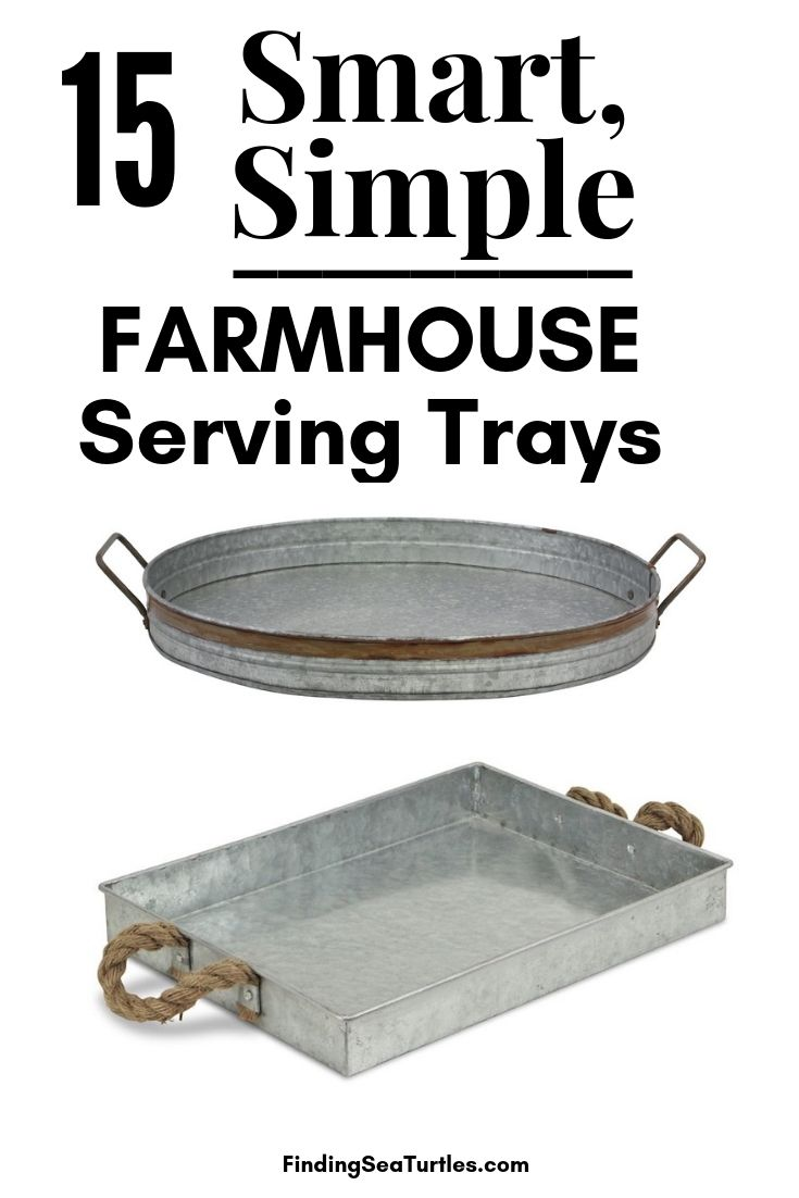 15 Smart Simple Farmhose Serving Trays #Farmhouse #FarmhouseDecor #FarmhouseTrays #RusticDecor #Patio #OutdoorSpaces #OutdoorLiving #IndoorLiving #Entertaining