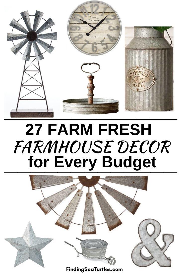 27 FARM FRESH Farmhouse Decor For Every Budget #Farmhouse #FarmhouseDecor #AffordableFarmhouse #RusticDecor #IndustrialDecor #FarmLife #CountryLife #CountryDecor #SimpleFarmhouseDecor