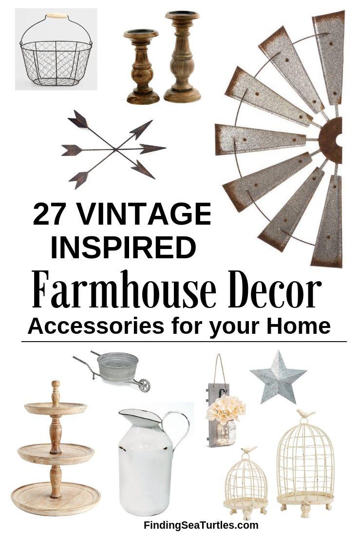 27 VINTAGE INSPIRED Farmhouse Decor Accessories For Your Home #Farmhouse #FarmhouseDecor #AffordableFarmhouse #RusticDecor #IndustrialDecor #FarmLife #CountryLife #CountryDecor #SimpleFarmhouseDecor