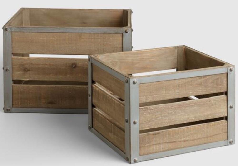 17 Farmhouse Crates for an Orderly Home Sebastian Crates #WoodCrates #Farmhouse #FarmhouseDecor #FarmhouseCrates #RusticDecor #Storage #Organization #OrganizedHome #IndustrialDecor