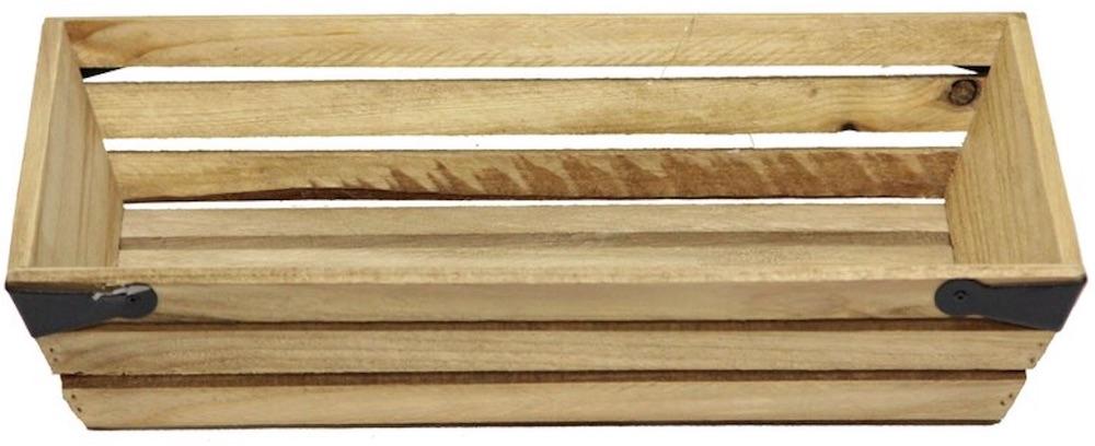 17 Farmhouse Crates for an Orderly Home Shallow Rectangle Wood Crate #WoodCrates #Farmhouse #FarmhouseDecor #FarmhouseCrates #RusticDecor #Storage #Organization #OrganizedHome #IndustrialDecor