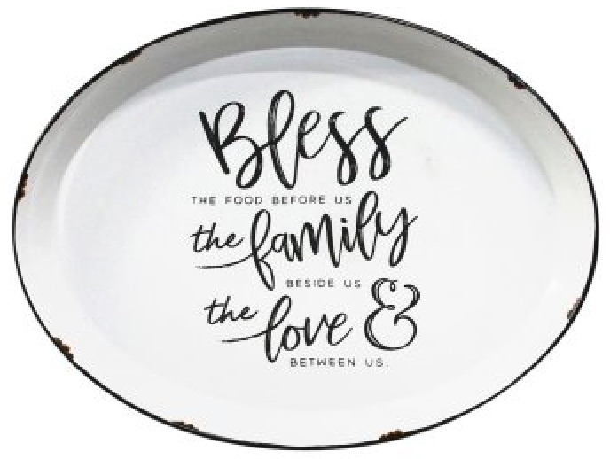 27 Simple, Affordable Farmhouse Decor Bless Family Love Plate Wall Decor #Farmhouse #FarmhouseDecor #AffordableFarmhouse #RusticDecor #IndustrialDecor #FarmLife #CountryLife #CountryDecor #SimpleFarmhouseDecor