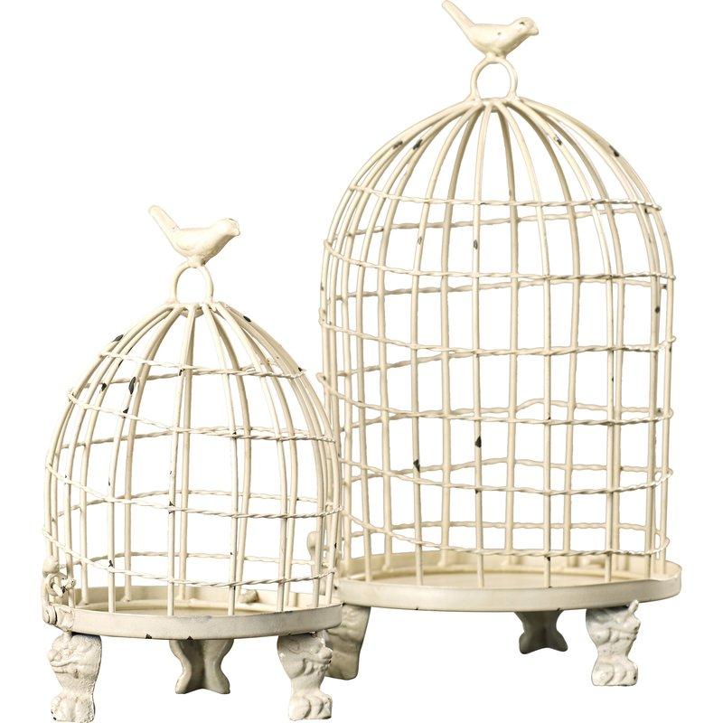 27 Simple, Affordable Farmhouse Decor Orla Birdcage Set #Farmhouse #FarmhouseDecor #AffordableFarmhouse #RusticDecor #IndustrialDecor #FarmLife #CountryLife #CountryDecor #SimpleFarmhouseDecor