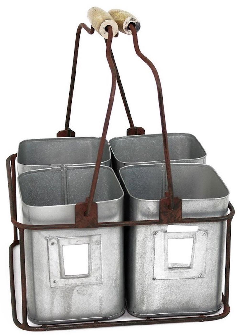 30 Farmhouse Storage Bins, Canisters, and Baskets Colonial Tin Works Metal Tin Organizer #Farmhouse #FarmhouseDecor #FarmhouseStorage #RusticStorage #CountryLiving #IndustrialStorage #Organization #Storage