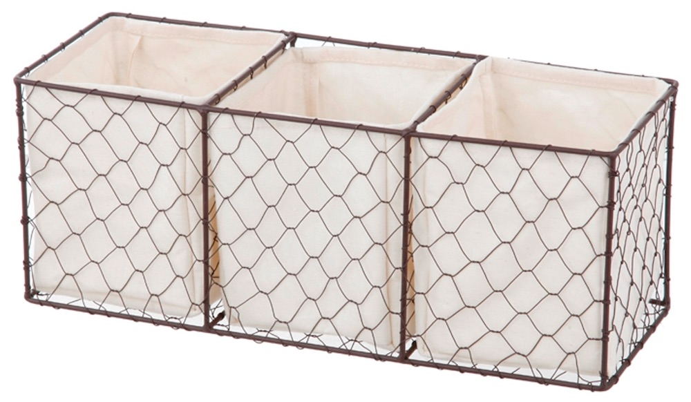 30 Farmhouse Storage Bins, Canisters, and Baskets Lined Chicken Wire Basket #Farmhouse #FarmhouseDecor #FarmhouseStorage #RusticStorage #CountryLiving #IndustrialStorage #Organization #Storage