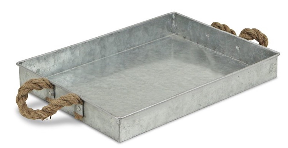 15 Farmhouse Trays for Every Budget Galvanized Tray #Farmhouse #FarmhouseDecor #FarmhouseTrays #RusticDecor #Patio #OutdoorSpaces #OutdoorLiving #IndoorLiving #Entertaining