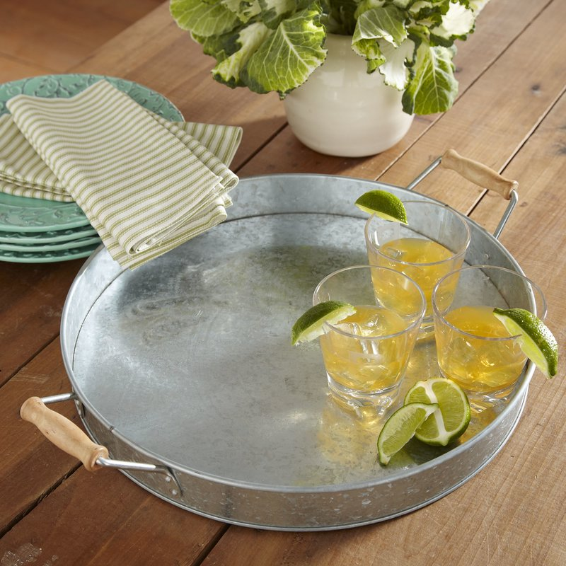 15 Farmhouse Trays for Every Budget Hoyleton Serving Tray #Farmhouse #FarmhouseDecor #FarmhouseTrays #RusticDecor #Patio #OutdoorSpaces #OutdoorLiving #IndoorLiving #Entertaining