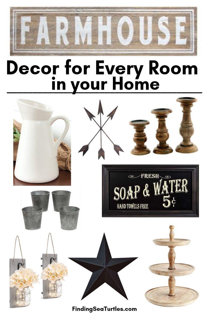 FARMHOUSE Decor For Every Room In Your Home #Farmhouse #FarmhouseDecor #AffordableFarmhouse #RusticDecor #IndustrialDecor #FarmLife #CountryLife #CountryDecor #SimpleFarmhouseDecor