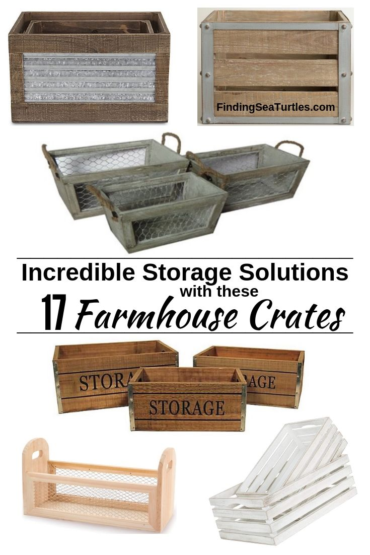 Incredible Storage Solutions With These 17 Farmhouse Crates #WoodCrates #Farmhouse #FarmhouseDecor #FarmhouseCrates #RusticDecor #Storage #Organization #OrganizedHome #IndustrialDecor