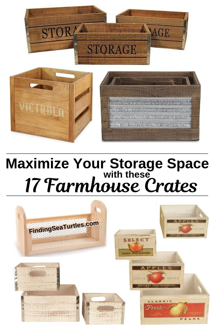 Maximize Your Storage Space With These 17 Farmhouse Crates #WoodCrates #Farmhouse #FarmhouseDecor #FarmhouseCrates #RusticDecor #Storage #Organization #OrganizedHome #IndustrialDecor