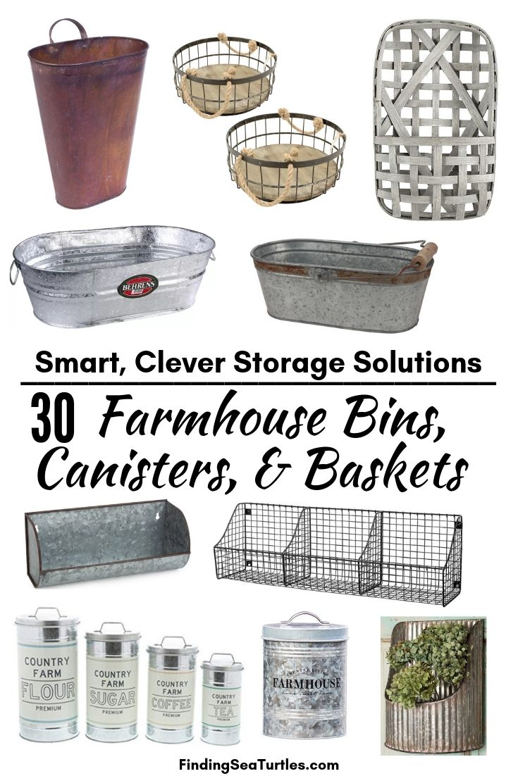 Smart Clever Storage Solutions 30 Farmhouse Bins Canisters Baskets #Farmhouse #FarmhouseDecor #FarmhouseStorage #RusticStorage #CountryLiving #IndustrialStorage #Organization #Storage